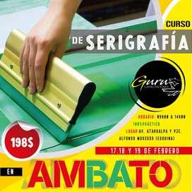 CURSO SERIGRAFÍA TEXTIL AMBATO