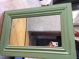 Espejo rectangular tipo decapado
