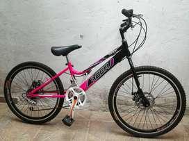 Bicicleta Rin 24 freno de disco con cambios