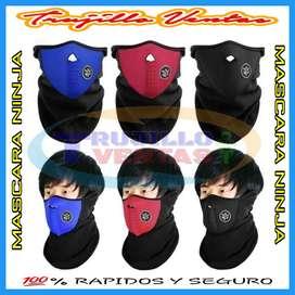 Mascara ninja mascara de neopreno