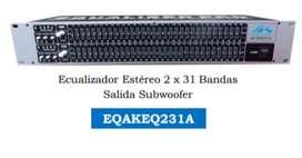 ECUALIZADOR AUDIO KING 2X31 BANDAS