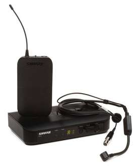 REMATO !!! Shure BLX14R/PG31 J-10 Sistema Inalámbrico Cintillo UHF y solapero SENNHEISER XSW1-ME2