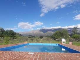 hs86 - Cabaña para 2 a 8 personas con pileta y cochera en Quebrada De Los Pozos