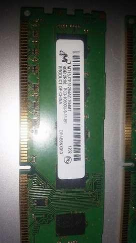 Memoria Ddr3 de 4 Gb para pc