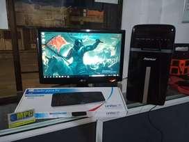 torre core i3 4 núcleos, 500gb de disco 4gb de ram monitor de 19 pulgadas