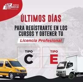 CURSO PARA LICENCIA PROFESIONAL TIPO C/E