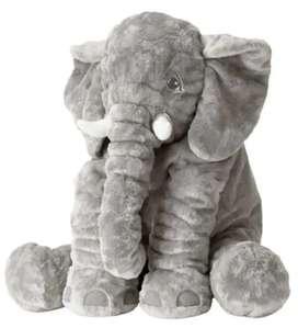 Peluche elefante bebe antialérgico de 60cm niño niña color rosado gris