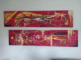 Se venden 2 cuadros pintados en óleo sobre lienzo (medidas 150 * 35 cm)