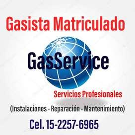 Gasista Matriculado Capital Federal y Gran Buenos Aires