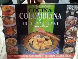 Vendo colección de libros de cocina Colombiana e Internacional