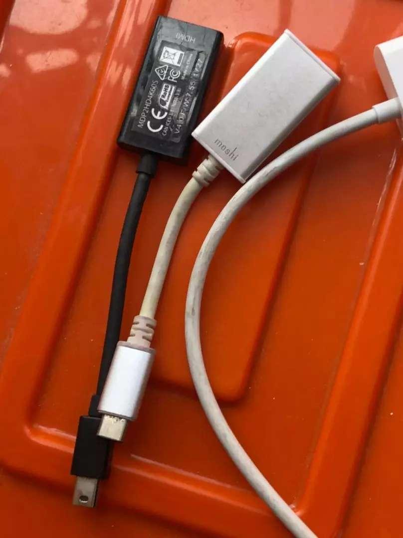 Adaptador USb C moshi, adaptador satechi y apple