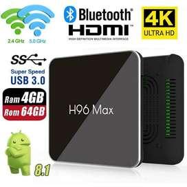 Tv Box Android 9.0 4gb 64gb H96 Max X2
