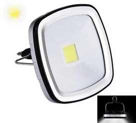 Luz solar multifuncional lámpara panel solar recargable USB . Luz blanca