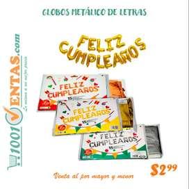 GLOBOS METALICO DE LETRAS