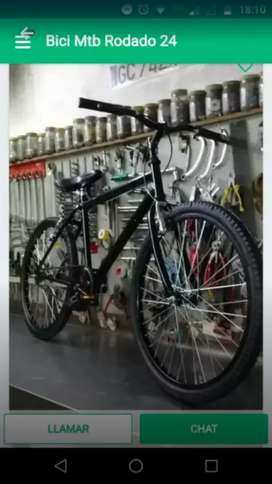 Bicicleta mtb rodado 24 negra