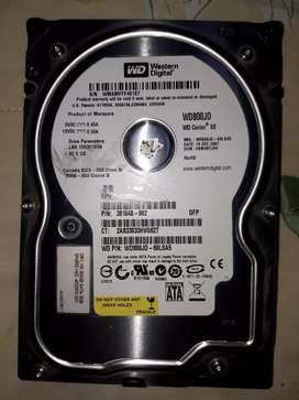Vendo Disco Duro Sata de 80 GB Western Digital