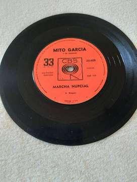 MARCHA NUPCIAL MITO GARCIA Y SU ORGANO CBS 33 RPM