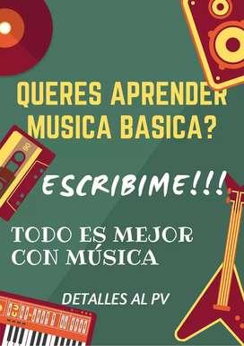 Clases de iniciación musical para niños y jóvenes