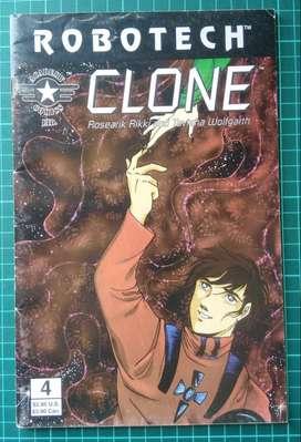 Robotech - Clone - historieta - comic blanco y negro
