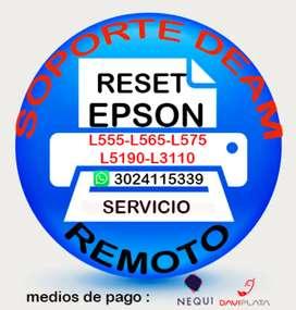 Soporte de reset para impresoras Epson