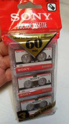 Set pack casette micro regrabable sony japonés
