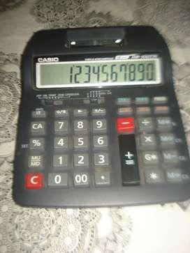 Calculadora Y Sumadora Casio Hr 100tm Funciona No Envio