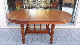 Mesa de comedor antigua roble macizo