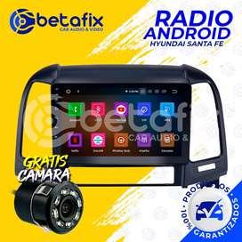 RADIO ANDROID PARA HYUNDAI SANTA FE 2006-UP GPS BT USB WIFI BETAFIX DESDE