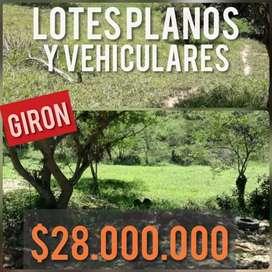 LOTES EN GIRON A PRECIO DE PREVENTA TAN SOLO $28.000.000