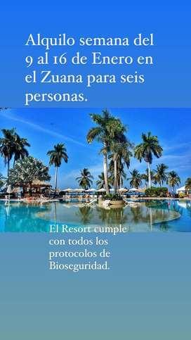 Semana Zuana del 9 al 16 de enero para 6 personas