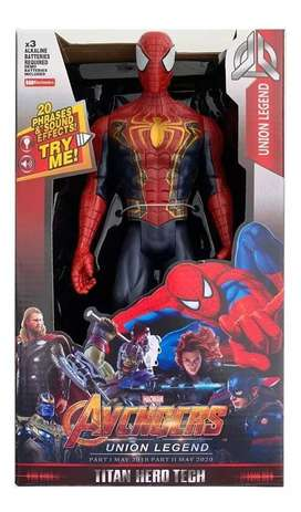 Muñeco Iron Spider Avengers 30 cm con Luz y Sonidos