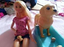 Vendo barbie baña perritos