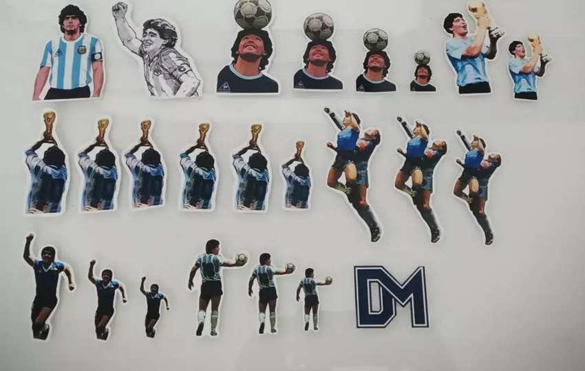 Stickers personalizados Maradona Messi resistentes al agua 0