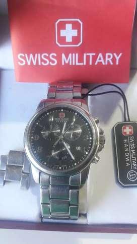 Reloj Militar Swiss Army Hanowa Crono Soldier Prime Caja y Manual Joya