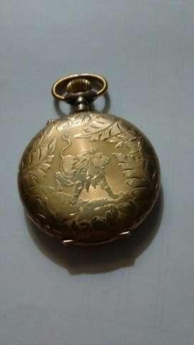 Antiguo Reloj de Bolsillo 4 Tapas de Oro