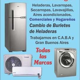 Servicio técnico lavarropas Heladeras Secarropas Aires