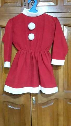 Disfraz mamá Noel para niña.