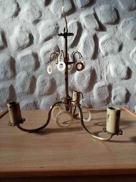 lampara de techo antigua de bronce