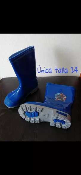 Botas de Caucho para Lluvia Niño solo talla 24
