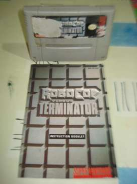 Juego Super Nintendo Robocop Vs Terminator C/manual Origina