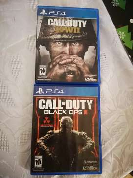Call of duty black ops III Y WWIII para PS4