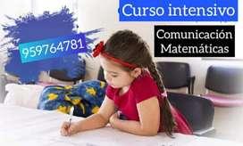 Reforzamiento virtual matemáticas, comunicación y inglés.