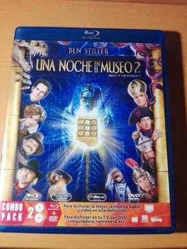 PELICULA ORIGINAL UNA NOCHE EN EL MUSEO 2 BLURAY y DVD