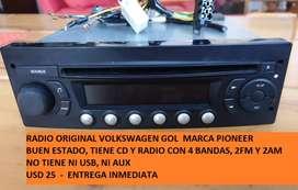 Por viaje vendo usado radio Pioneer con cd. Original VW gol 2007