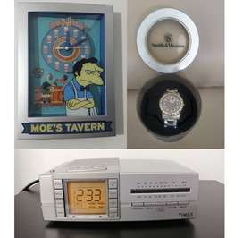 3 relojes Moe the simpsons Timex Smith Wesson