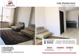 Alquiler de suite amoblada en Puerto Azul - Via a la Costa