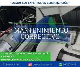 MANTENIMIENTO CORRECTIVO A EQUIPOS DE AIRE ACONDICIONADO