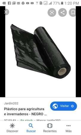 Rollo de Plastico Negro Poliestileno