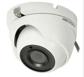 Camara de seguridad Domo Turbo Hd 5mpx Hikvision Ds-2ce56h0t-itmf Metálica 2,8mm