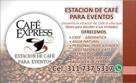 ESTACIÓN DE CAFÉ PARA EVENTOS - CATERING - GRECAS